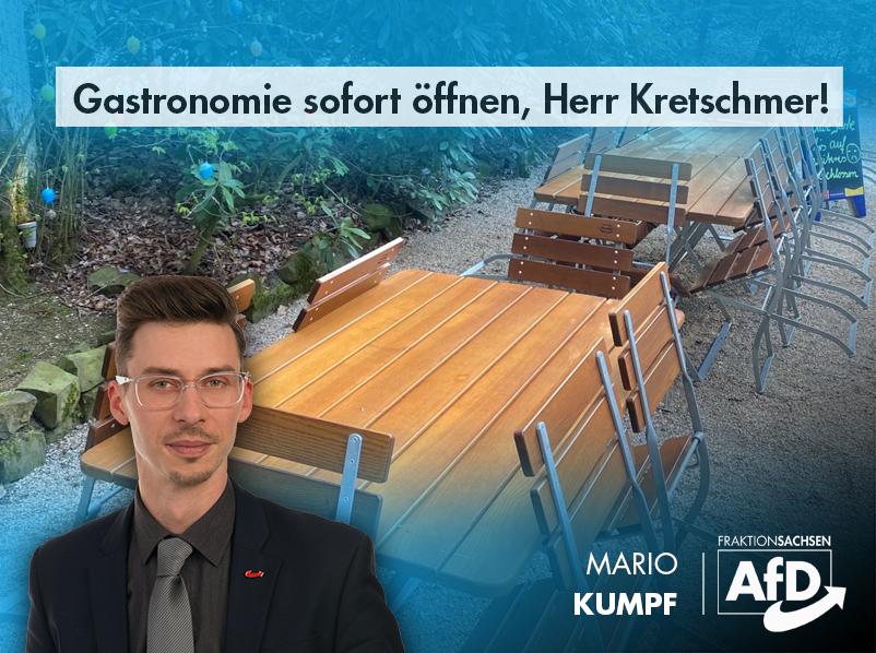 Gastronomie sofort öffnen, Herr Kretschmer!