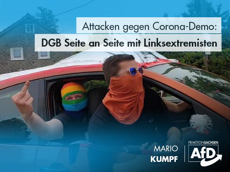 Corona-Demos: DGB Seite an Seite mit Linksextremisten