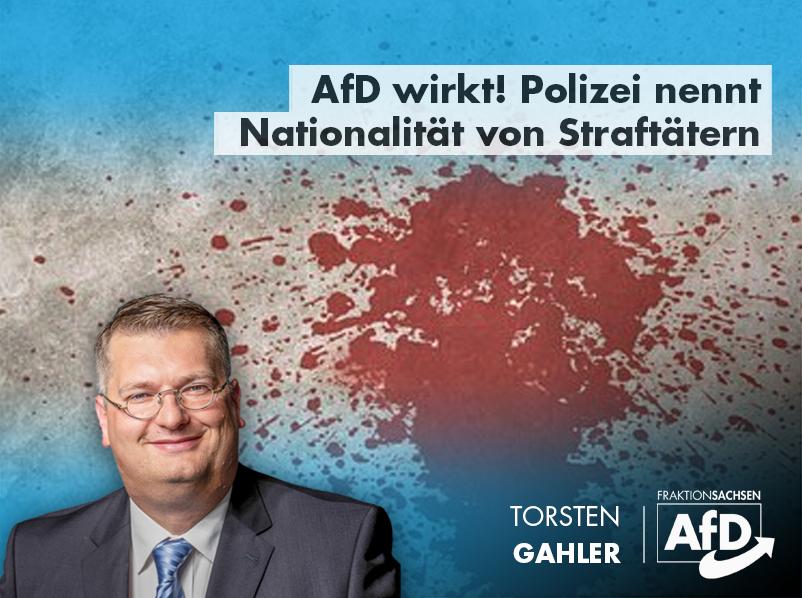 AfD wirkt! Polizei nennt Nationalität von Straftätern
