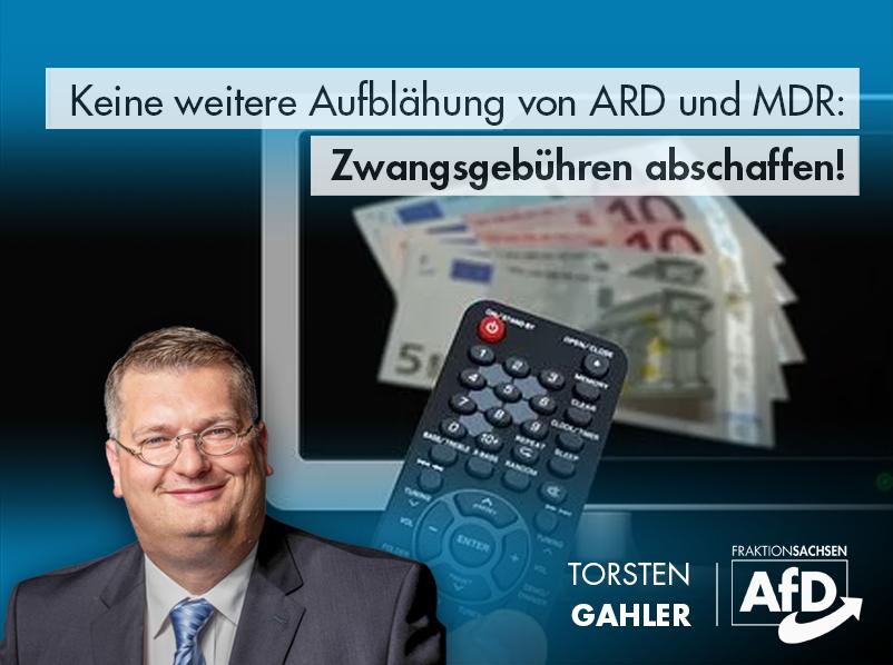 Keine weitere Aufblähung der ARD, Zwangsgebühren abschaffen!
