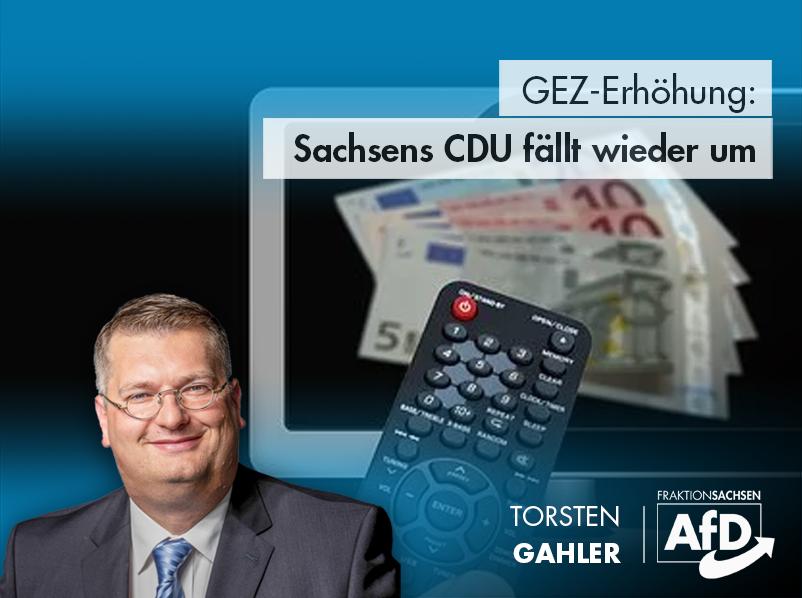 GEZ-Erhöhung: Sachsens CDU fällt wieder um