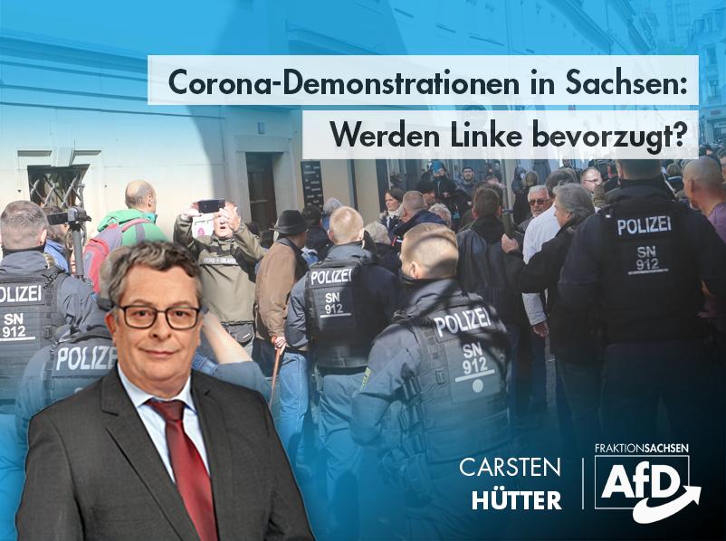 Corona-Demonstrationen in Sachsen: Werden Linke bevorzugt?