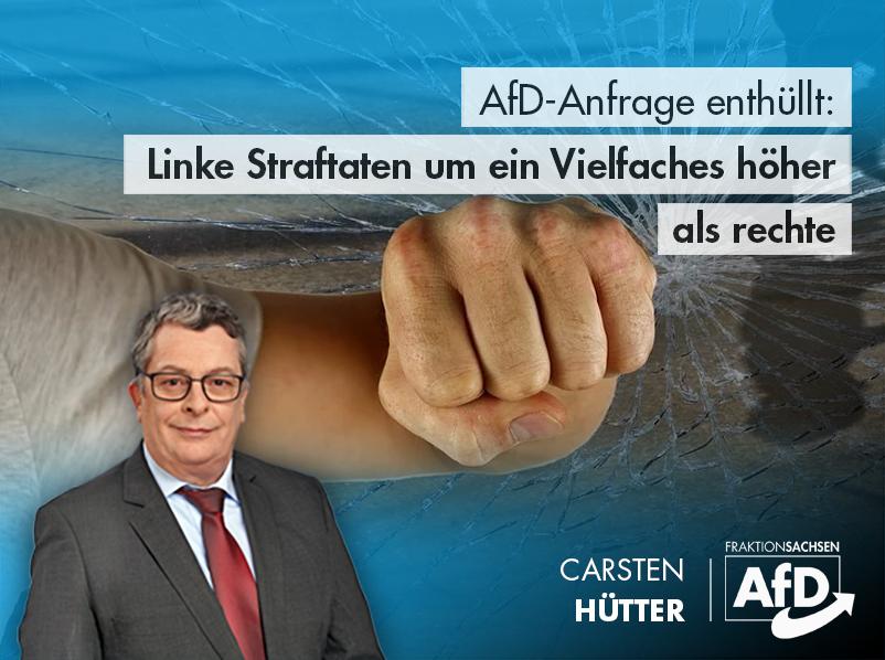 AfD-Anfrage enthüllt: Linke Straftaten um ein Vielfaches höher als rechte