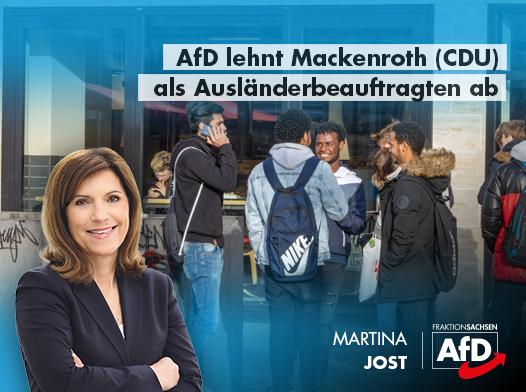 AfD lehnt Mackenroth (CDU) als Ausländerbeauftragten ab