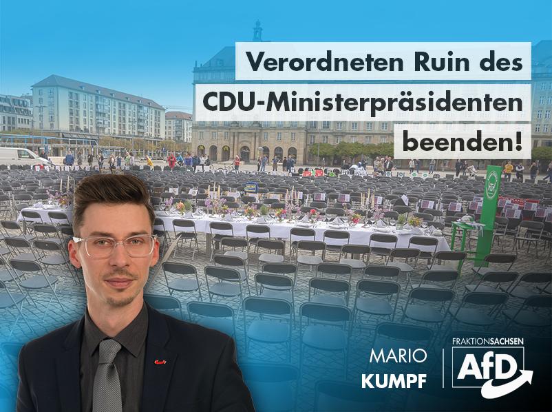 Verordneten Ruin des CDU-Ministerpräsidenten beenden!