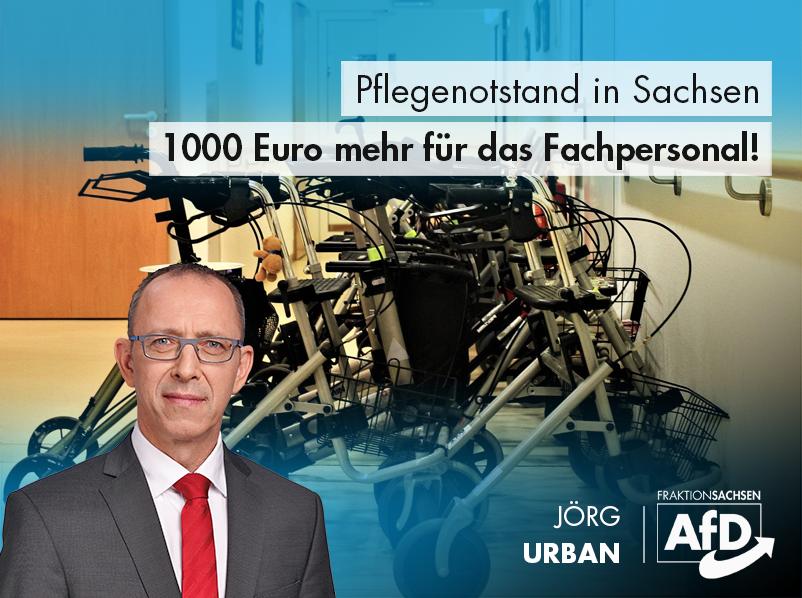 Pflegenotstand in Sachsen: 1000 Euro mehr für medizinisches Fachpersonal!