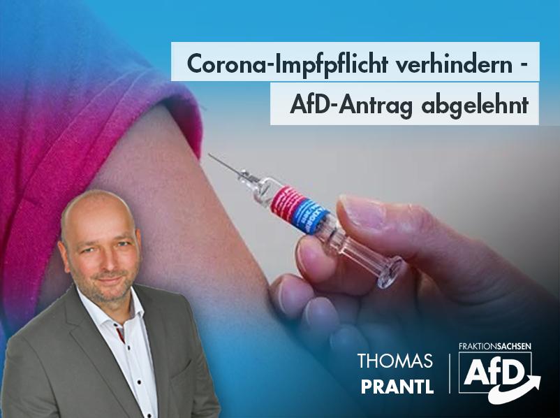 Corona-Impfpflicht verhindern – AfD-Antrag abgelehnt