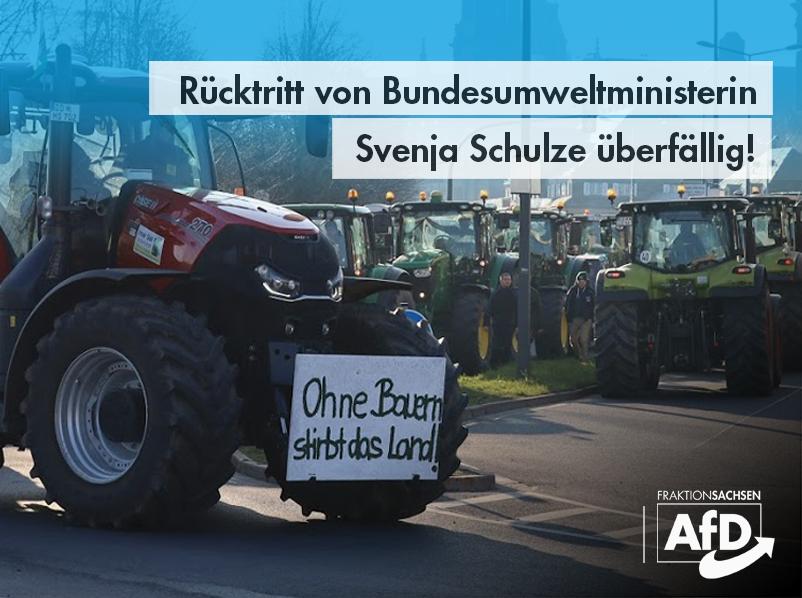 Rücktritt von Bundesumweltministerin Svenja Schulze überfällig!