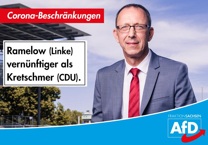 Ramelow (Linke) vernünftiger als Kretschmer (CDU)