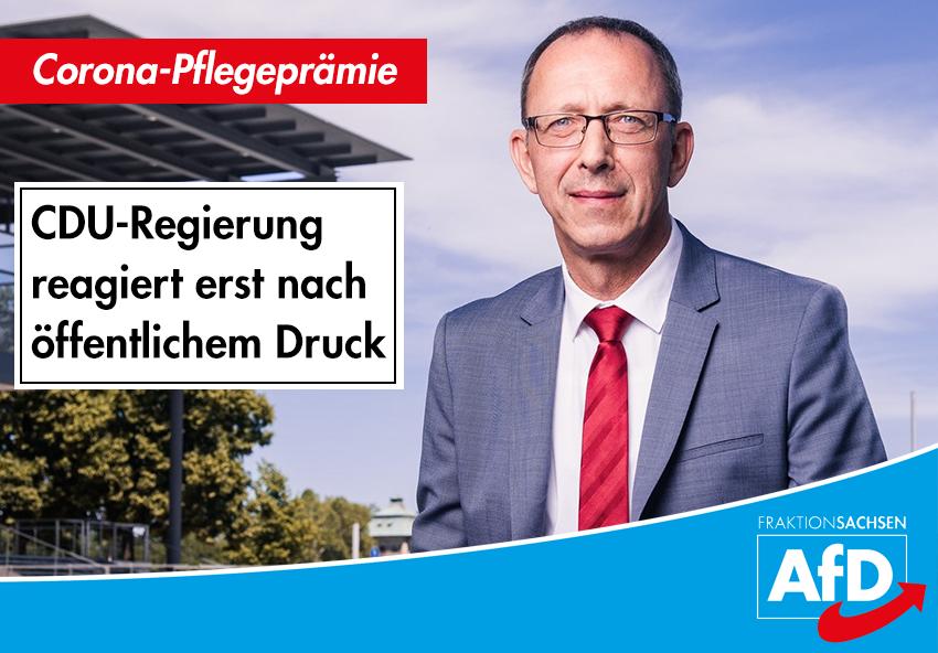 Pflegeprämie: CDU-Regierung reagiert erst nach öffentlichem Druck