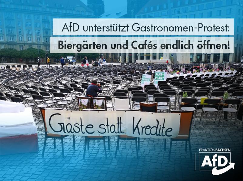 AfD unterstützt Gastronomen-Protest: Biergärten und Cafés endlich öffnen!