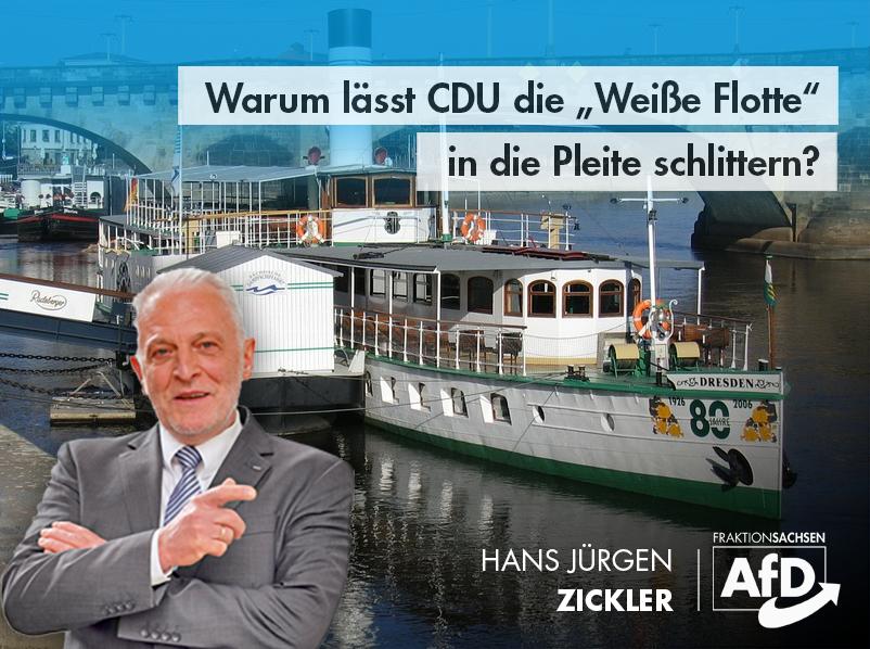 """Warum lässt CDU die """"Weiße Flotte"""" in die Pleite schlittern?"""