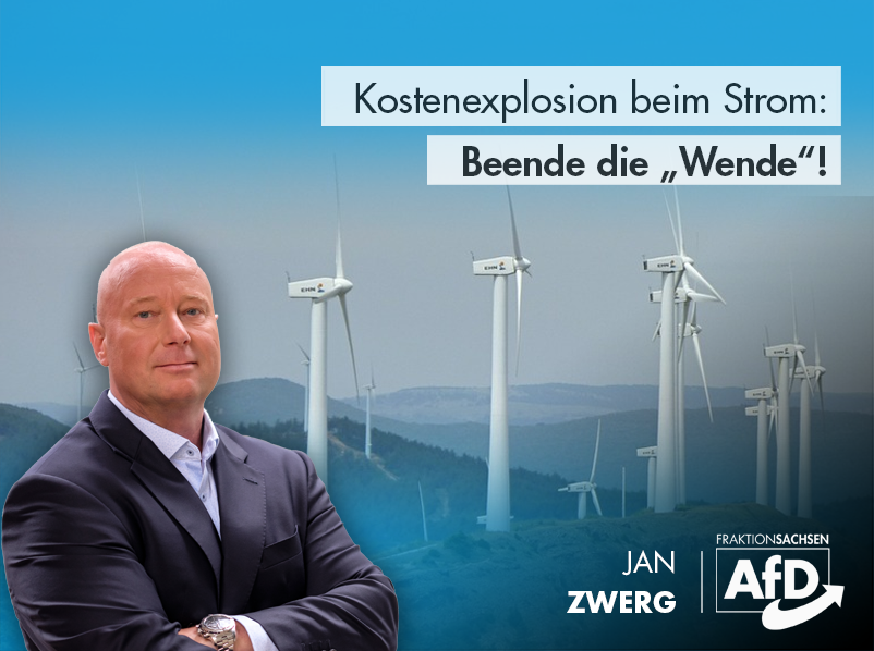 """Kostenexplosion beim Strom: Beende die """"Wende""""!"""
