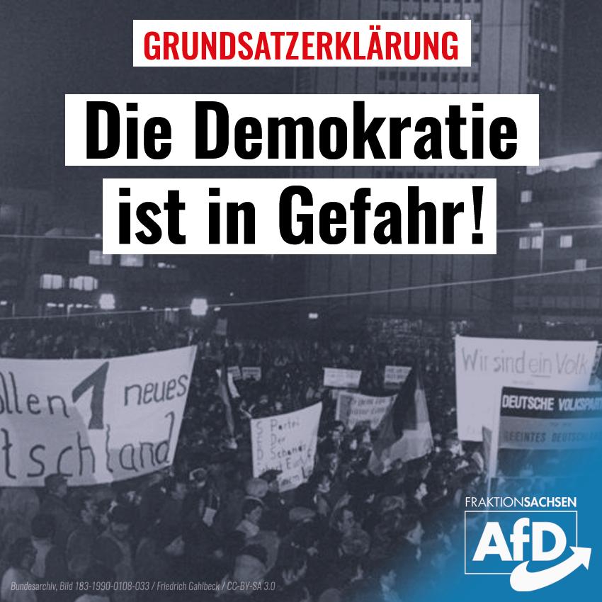 Grundsatzerklärung: Demokratie in Gefahr