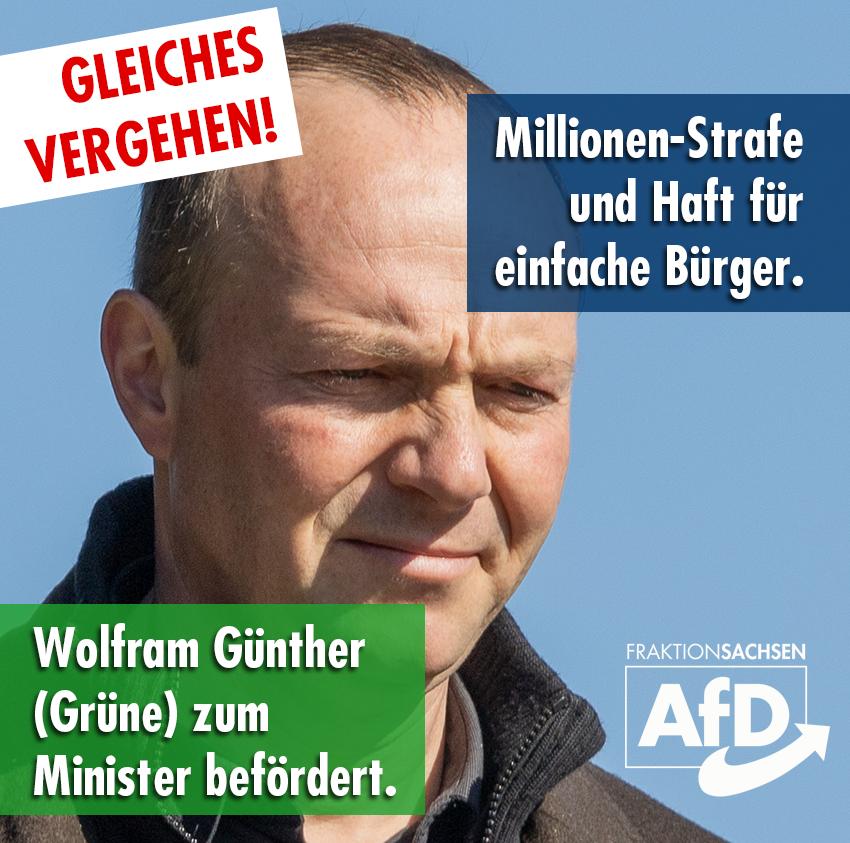 Gleiches Vergehen: Rentner muss in Knast / Grüner wird Minister