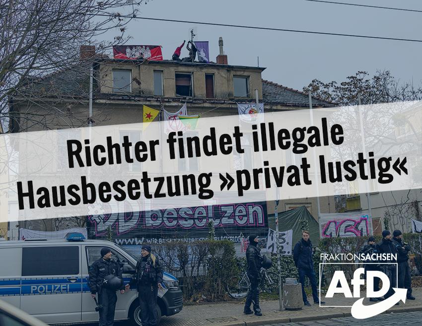 """Richter findet illegale Hausbesetzung """"privat lustig"""""""