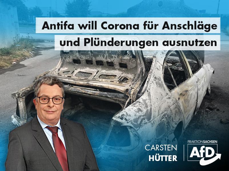 Antifa will Coronakrise für Anschläge und Plünderungen ausnutzen: Freistaat muss sich wehren!