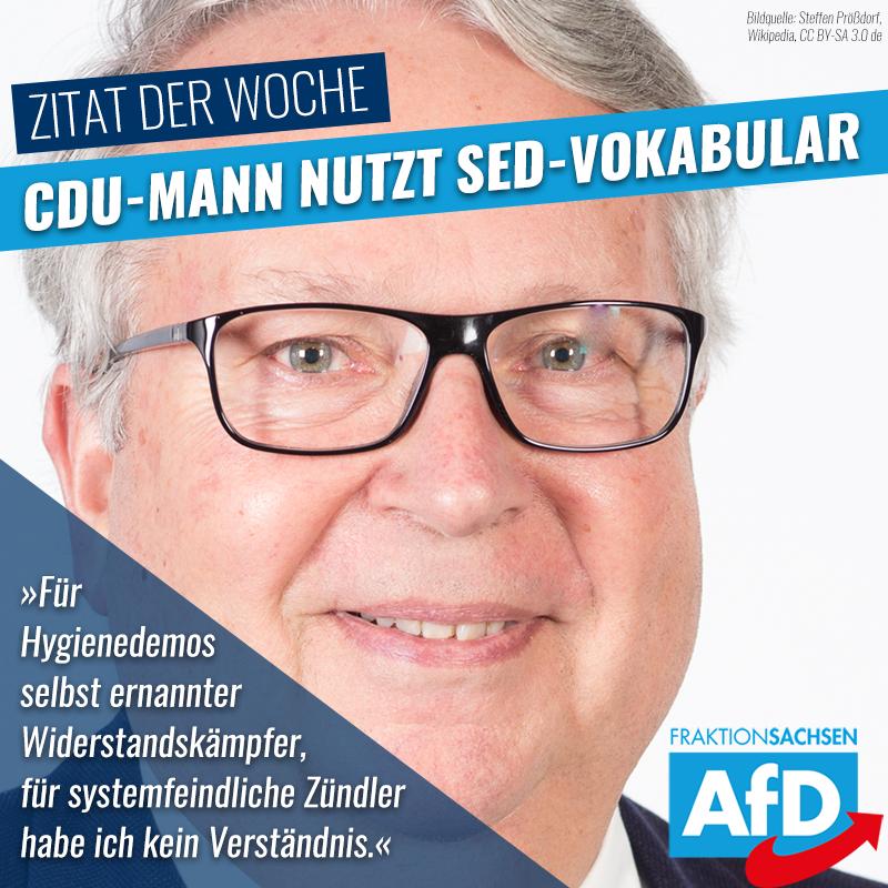 CDU-Mann Geert Mackenroth nutzt das Vokabular der SED