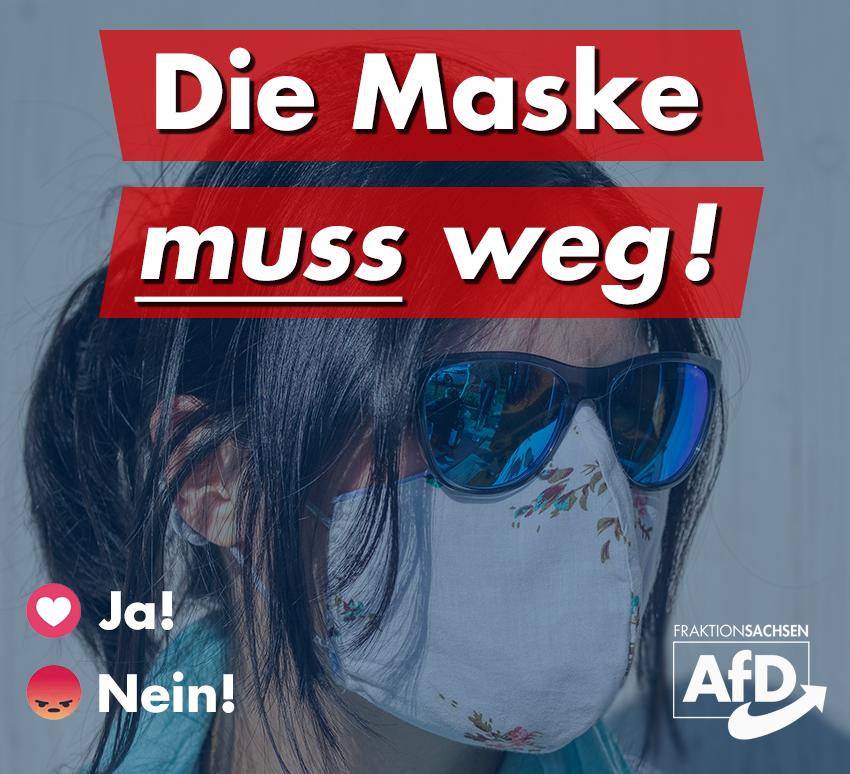 Die Maske muss weg!