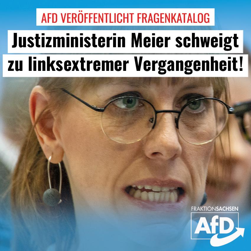 Meier schweigt zu linksextremer Vergangenheit: AfD-Fraktion veröffentlicht Fragenkatalog