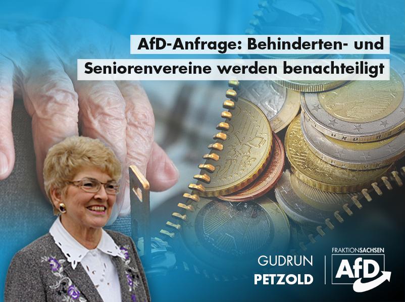 AfD-Anfrage: Behinderten- und Seniorenvereine werden benachteiligt
