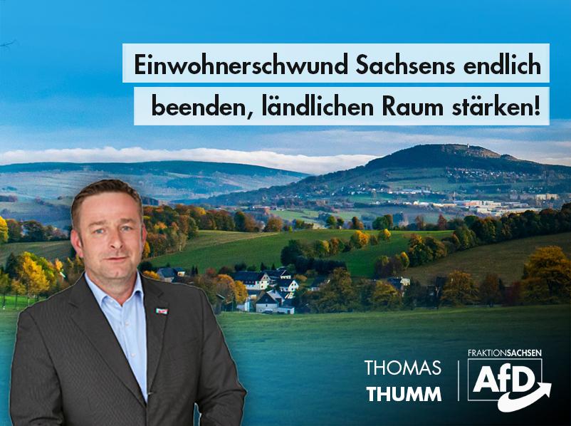Einwohnerschwund Sachsens endlich beenden, ländlichen Raum stärken!