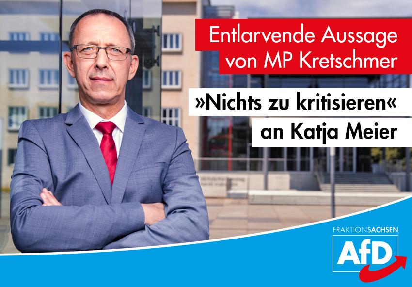 """Entlarvende Aussage von MP Kretschmer: """"Nichts zu kritisieren"""" an Katja Meier"""