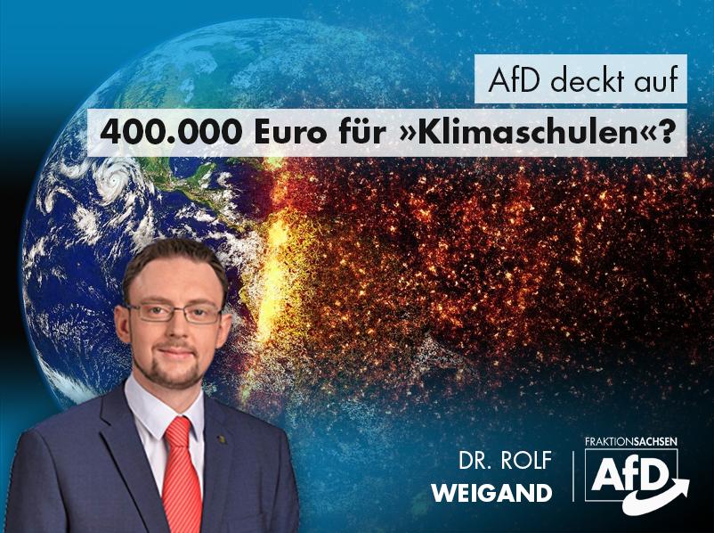 """AfD deckt auf: 400.000 Euro für """"Klimaschulen""""?"""