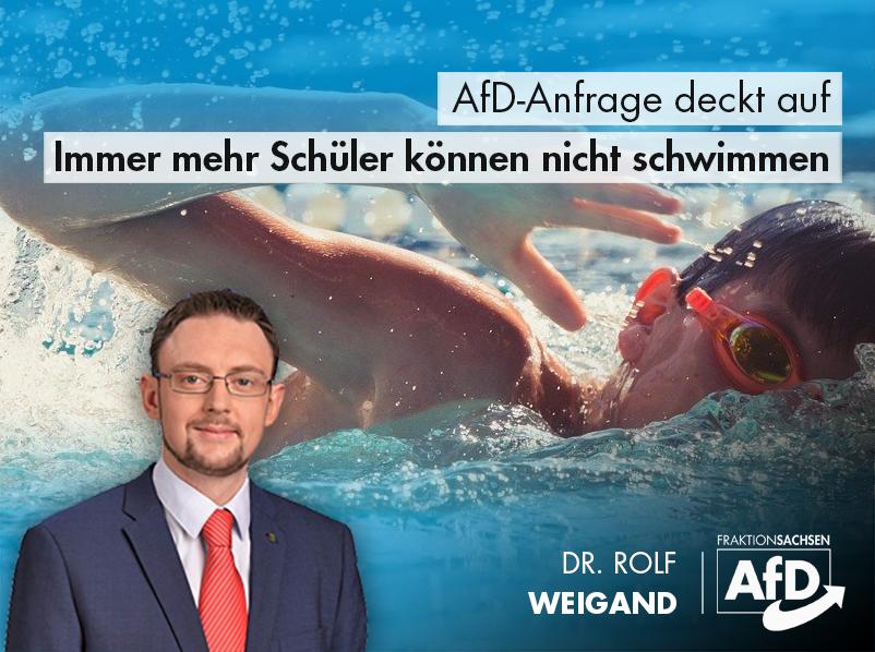 AfD-Anfrage: Immer mehr Schüler können nicht schwimmen