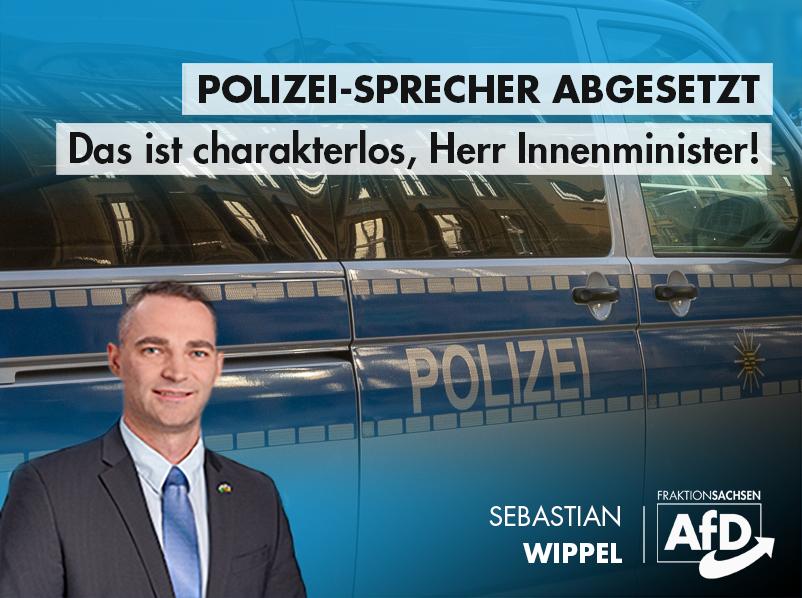 Polizei-Sprecher abgesetzt: Das ist charakterlos, Herr Innenminister!