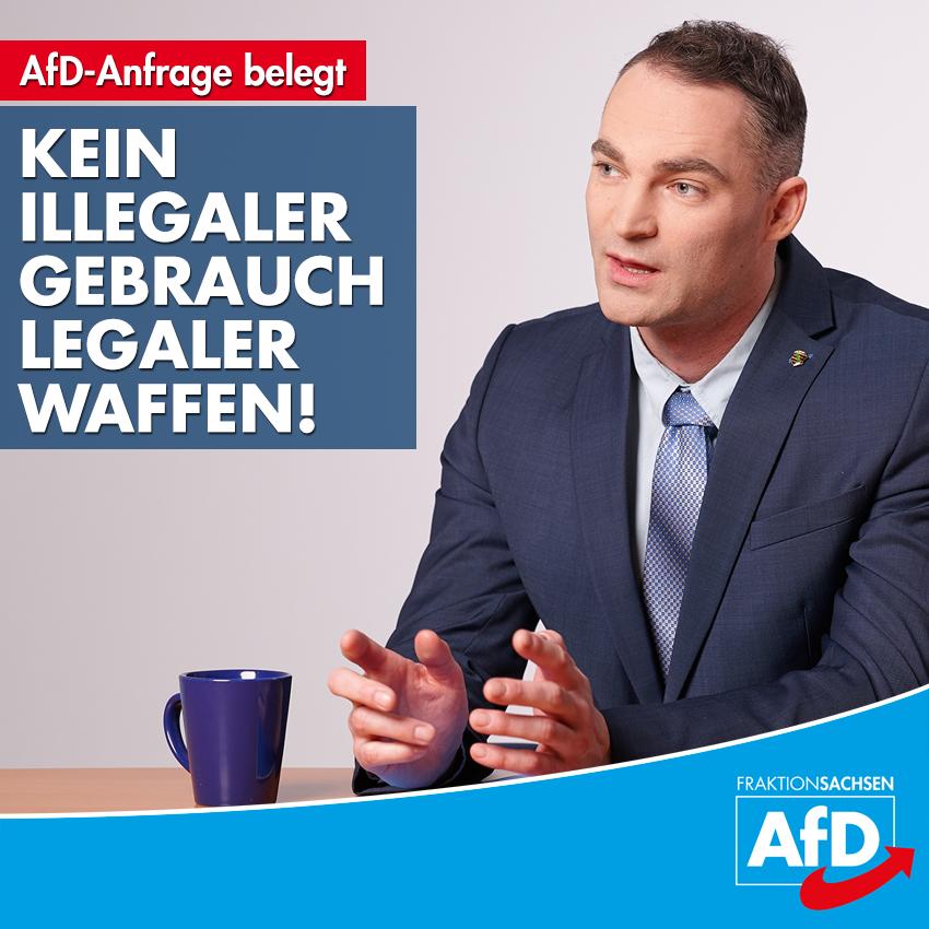 AfD-Anfrage belegt: Kein illegaler Gebrauch legaler Waffen