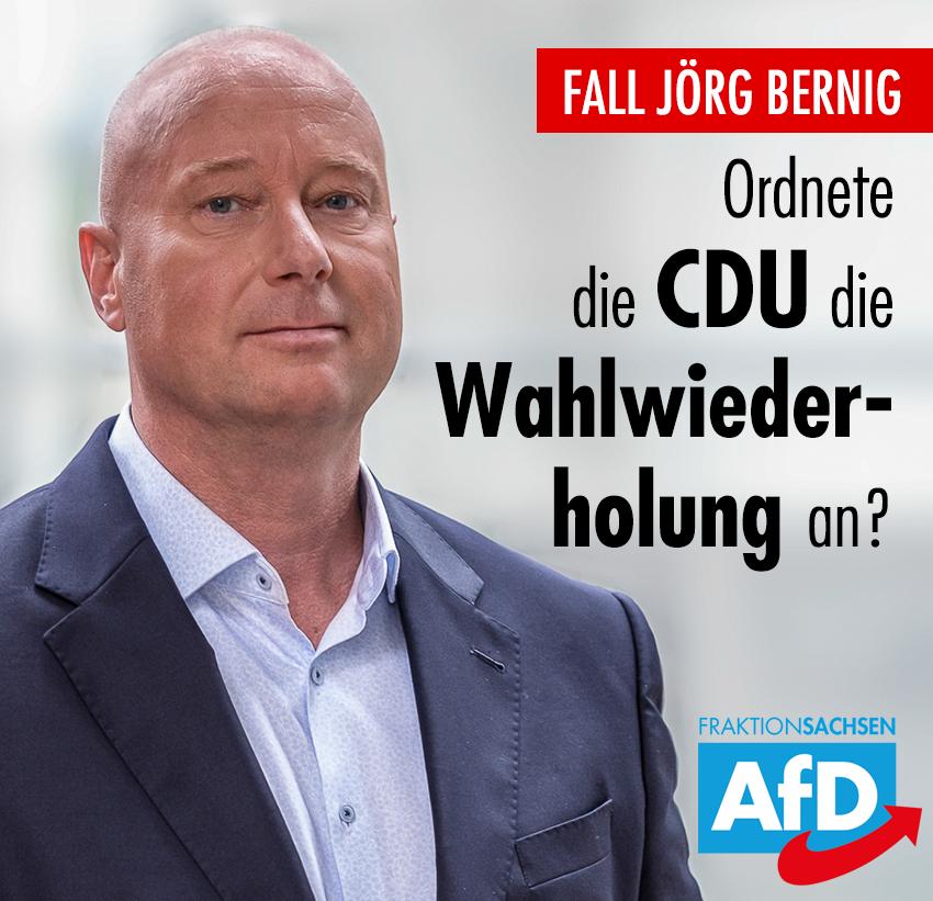 Fall Jörg Bernig: Ordnete die sächsische CDU die Wahlwiederholung an?