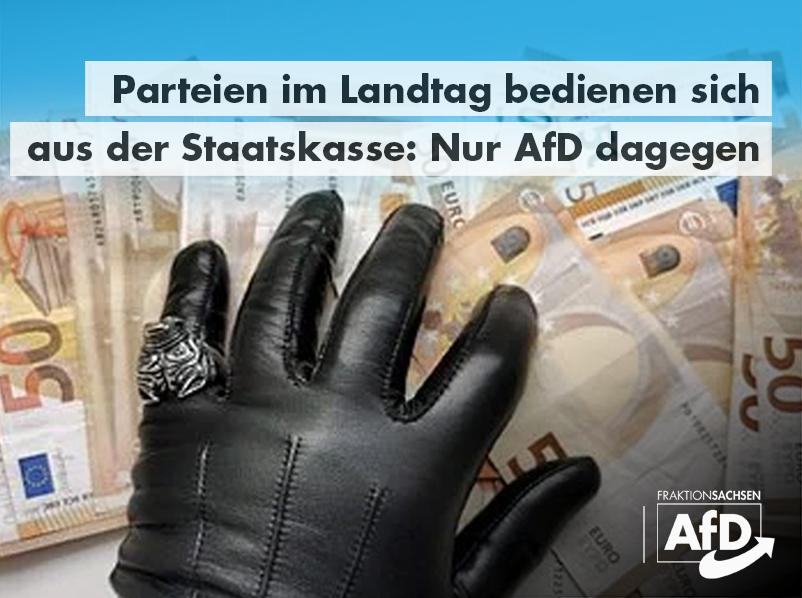 Parteien im Landtag bedienen sich aus der Staatskasse: Nur AfD dagegen