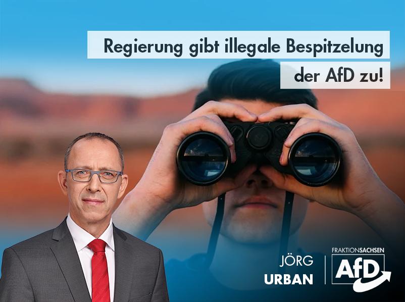 Regierung gibt illegale Bespitzelung der AfD zu!