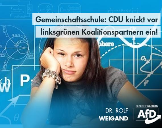 Gemeinschaftsschule kommt – CDU knickt vor linksgrünen Koalitionspartnern ein!