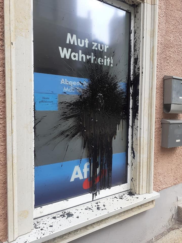 Neunter Anschlag auf ein AfD-Büro im Erzgebirge